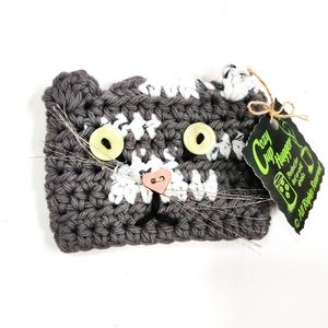 Cozy Kitty Cat Cup Hugger Knit Sleeve